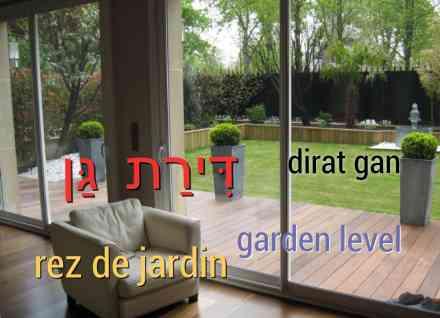rez de jardin maison tel aviv