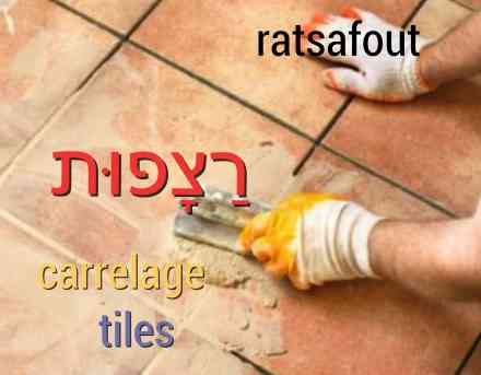carrelage maison hebreu