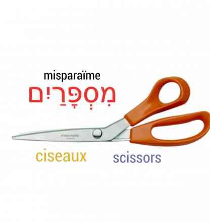 ciseaux en hébreu be ivrit